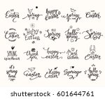 happy easter  springtime... | Shutterstock .eps vector #601644761