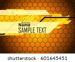 orange abstract template for... | Shutterstock .eps vector #601645451