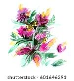 watercolor hand drawn... | Shutterstock . vector #601646291
