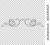 vintage baroque ornament retro... | Shutterstock .eps vector #601650425
