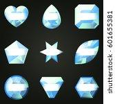 set of gemstones with different ...   Shutterstock .eps vector #601655381