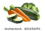 zucchini carrots broccoli... | Shutterstock . vector #601656491