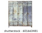isolated lockers on white... | Shutterstock . vector #601663481