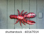Fresh Maine Lobster Sign On...
