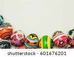 Colorful Egg In Painting Style...