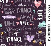 hand drawn lettering phrase... | Shutterstock .eps vector #601677011