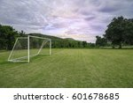 Soccer Field With Cloudy In Th...