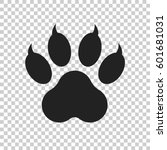 paw print icon vector...   Shutterstock .eps vector #601681031