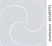 lines rotation pattern.... | Shutterstock .eps vector #601683701