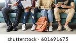 diversity teens hipster friend... | Shutterstock . vector #601691675