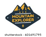 mountain badge with text... | Shutterstock .eps vector #601691795