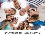 view from below. group of young ... | Shutterstock . vector #601693949
