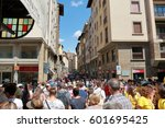 florence  italy   august 19 ... | Shutterstock . vector #601695425