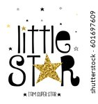 little star typography vector... | Shutterstock .eps vector #601697609