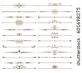 set page dividers. antique... | Shutterstock .eps vector #601698275