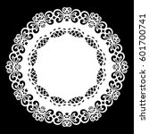 lace round paper doily  lacy... | Shutterstock .eps vector #601700741