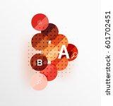 vector circle bubbles modern... | Shutterstock .eps vector #601702451