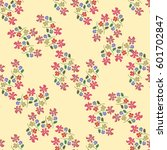 simple cute pattern in small... | Shutterstock .eps vector #601702847