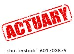 actuary red stamp text on white   Shutterstock .eps vector #601703879