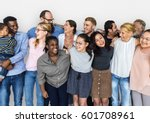 diverse group of people... | Shutterstock . vector #601708961