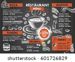 restaurant cafe menu | Shutterstock .eps vector #601726829