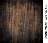 dark brown wooden texture.... | Shutterstock . vector #601732517