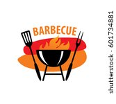barbecue party logo | Shutterstock .eps vector #601734881