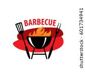 barbecue party logo | Shutterstock .eps vector #601734941