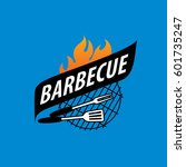 barbecue party logo | Shutterstock .eps vector #601735247