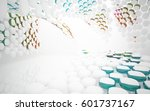 abstract dynamic interior with... | Shutterstock . vector #601737167