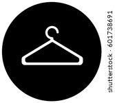cloakroom sign black. vector. | Shutterstock .eps vector #601738691