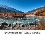 kali gandaki river near jomsom...   Shutterstock . vector #601743461