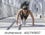 young beautiful and athletic... | Shutterstock . vector #601745837