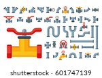 details pipes different types... | Shutterstock .eps vector #601747139