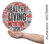 concept or conceptual healthy... | Shutterstock . vector #601750049