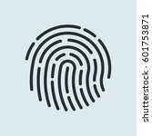 fingerprint recognition icon....