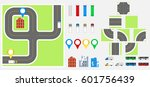 cityscape design elements with... | Shutterstock .eps vector #601756439