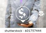 dollar trade exchange.... | Shutterstock . vector #601757444
