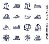 Cruise Icons Set. Set Of 16...