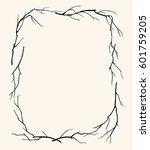 branch frame | Shutterstock .eps vector #601759205