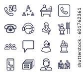 talk icons set. set of 16 talk... | Shutterstock .eps vector #601762361