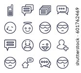 chat icons set. set of 16 chat... | Shutterstock .eps vector #601762469
