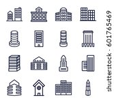 skyscraper icons set. set of 16 ...   Shutterstock .eps vector #601765469