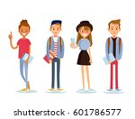 set of students | Shutterstock .eps vector #601786577