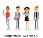 vector set of diverse college...   Shutterstock .eps vector #601786577