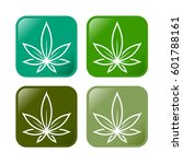 medical green cannabis icons   Shutterstock .eps vector #601788161