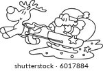 santa and sled | Shutterstock .eps vector #6017884