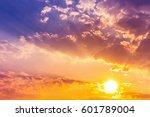 Beautiful Light In Sundown Sky