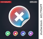 colored icon or button of... | Shutterstock .eps vector #601790699