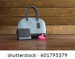 handbags and wallets women on...   Shutterstock . vector #601795379
